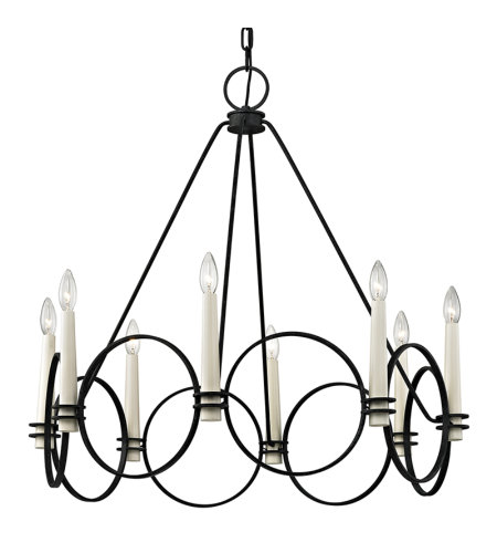 Troy Lighting F5958 Juliette 8 Light Chandelier In Country Iron