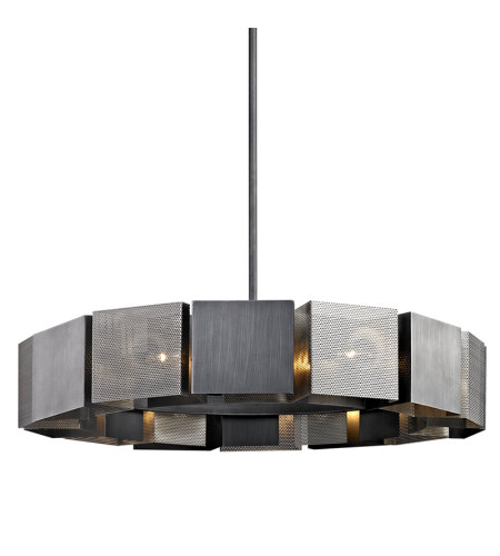 Troy Lighting F6046 Impression 14 Light Pendant In Graphite And Satin Nickel