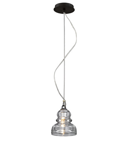 Troy Lighting F6052 Menlo Park 1 Light Pendant In Deep Bronze