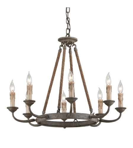 Troy Lighting F6116 Cyrano 8 Light Chandelier In Earthen Bronze