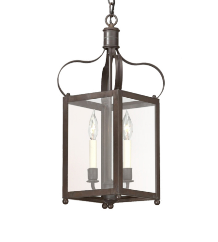 Troy Lighting F8920ci Classic 2 Light Bradford Hanging Lantern Small In Charred Iron