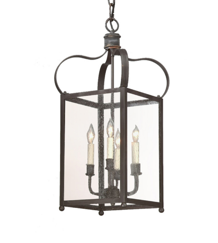 Troy Lighting F8921ci Classic 4 Light Bradford Hanging Lantern Medium In Charred Iron