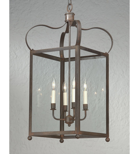 Troy Lighting F8922nr Classic 4 Light Bradford Hanging Lantern Large In Natural Rust