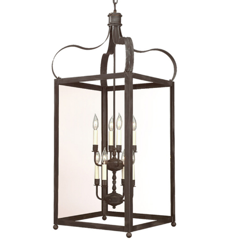 Troy Lighting F8923ci Classic 8 Light Bradford Hanging Lantern Extra Large In Charred Iron