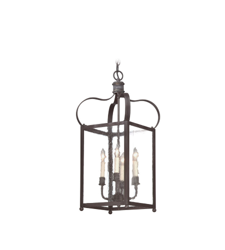 Troy Lighting Fcd8921ci Classic 4 Light Bradford Hanging Lantern Medium In Charred Iron