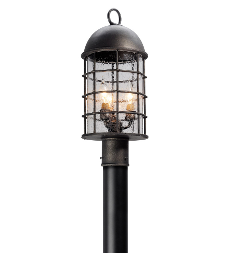 Troy Lighting P4435 Charlemagne 3 Light Post Medium in Aged Pewter