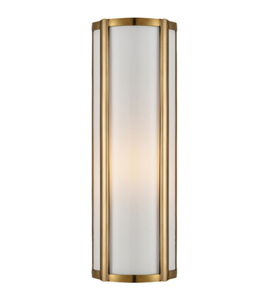 Visual Comfort AH 2023NB-WG Alexa H&ton Traditional Basil Small Linear Sconce in Natural Brass with White Glass | FoundryLighting.com  sc 1 st  Foundry Lighting & Visual Comfort AH 2023NB-WG Alexa Hampton Traditional Basil Small ...