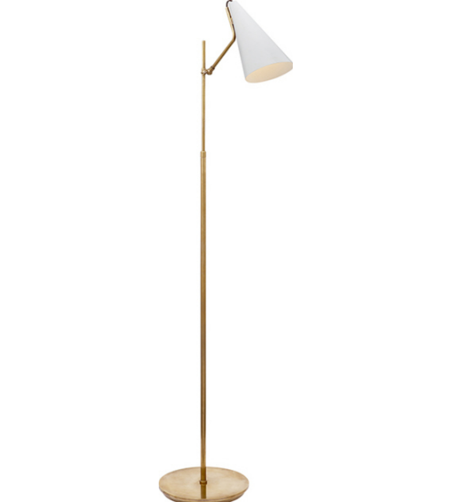 Visual comfort arn 1010hab wht aerin modern clemente floor for Tuscany floor lamp antique brass