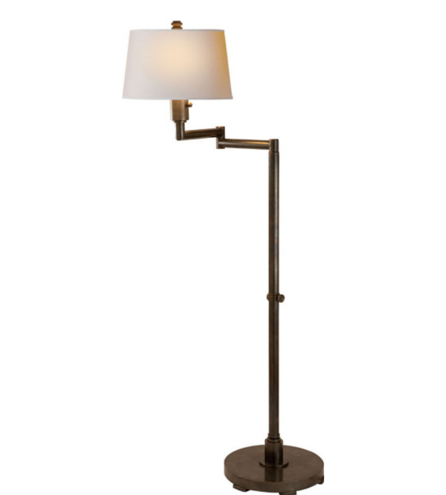 Visual comfort cha 9106bz np e f chapman casual chunky for Chunky brass floor lamp