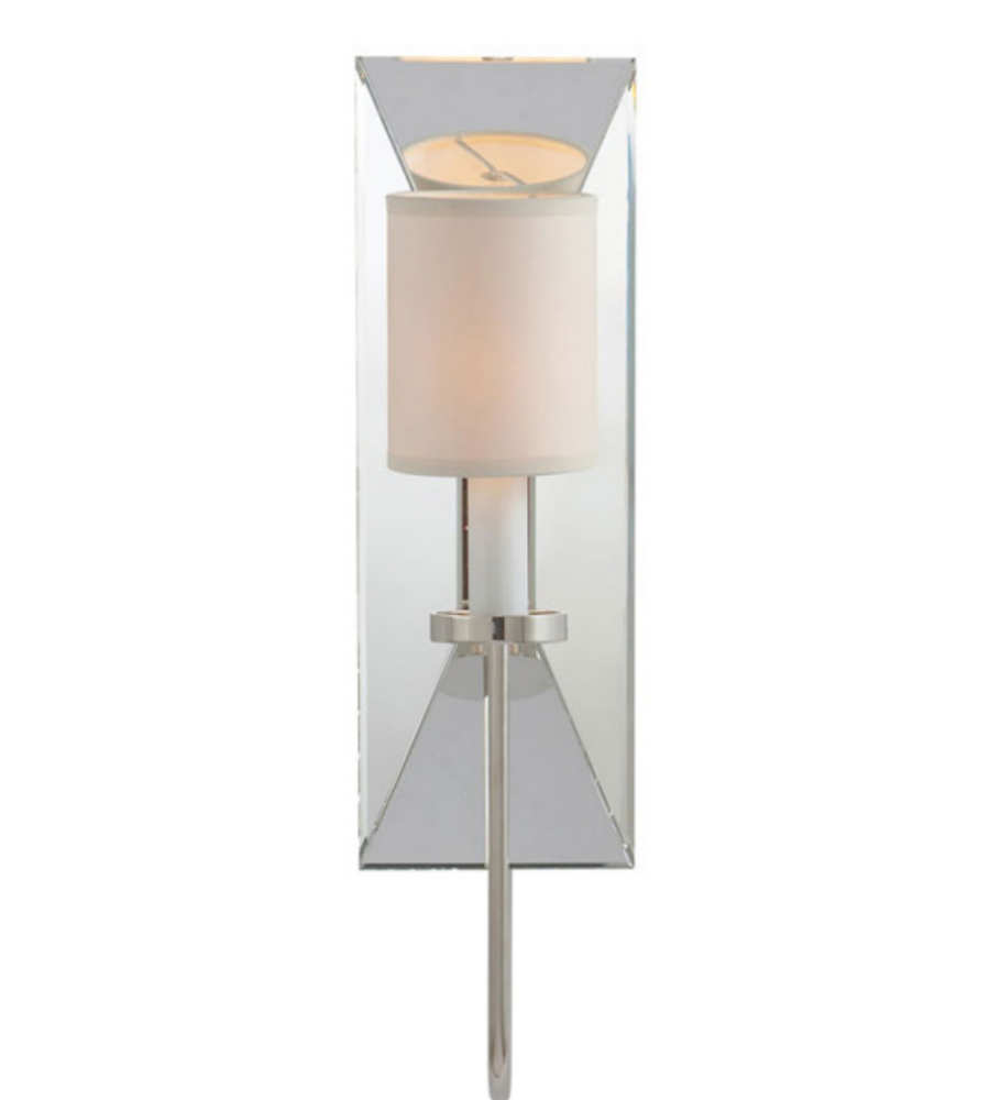Visual Comfort CHD 1601PN-NP E. F. Chapman Casual Cotswold Narrow Mirrored Sconce in Polished ...