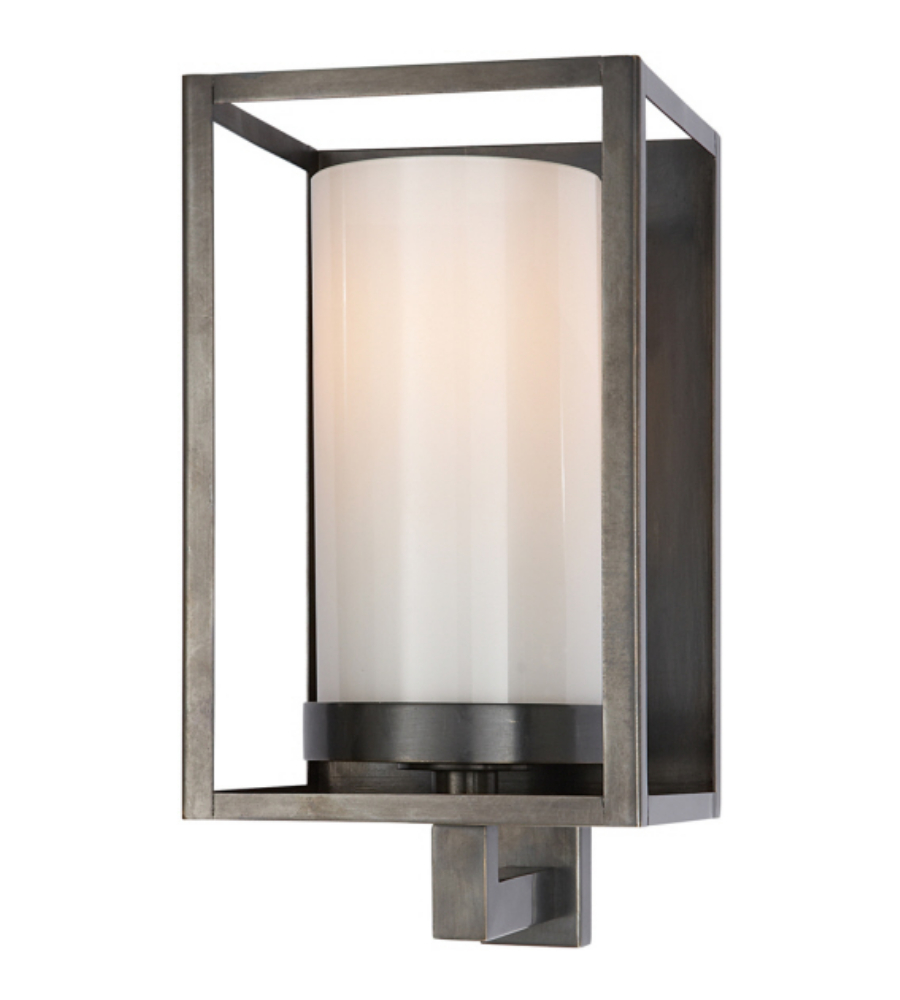 Visual Comfort CHD 2055BZ-WG E. F. Chapman Modern Easterly Sconce in Bronze with White Glass ...