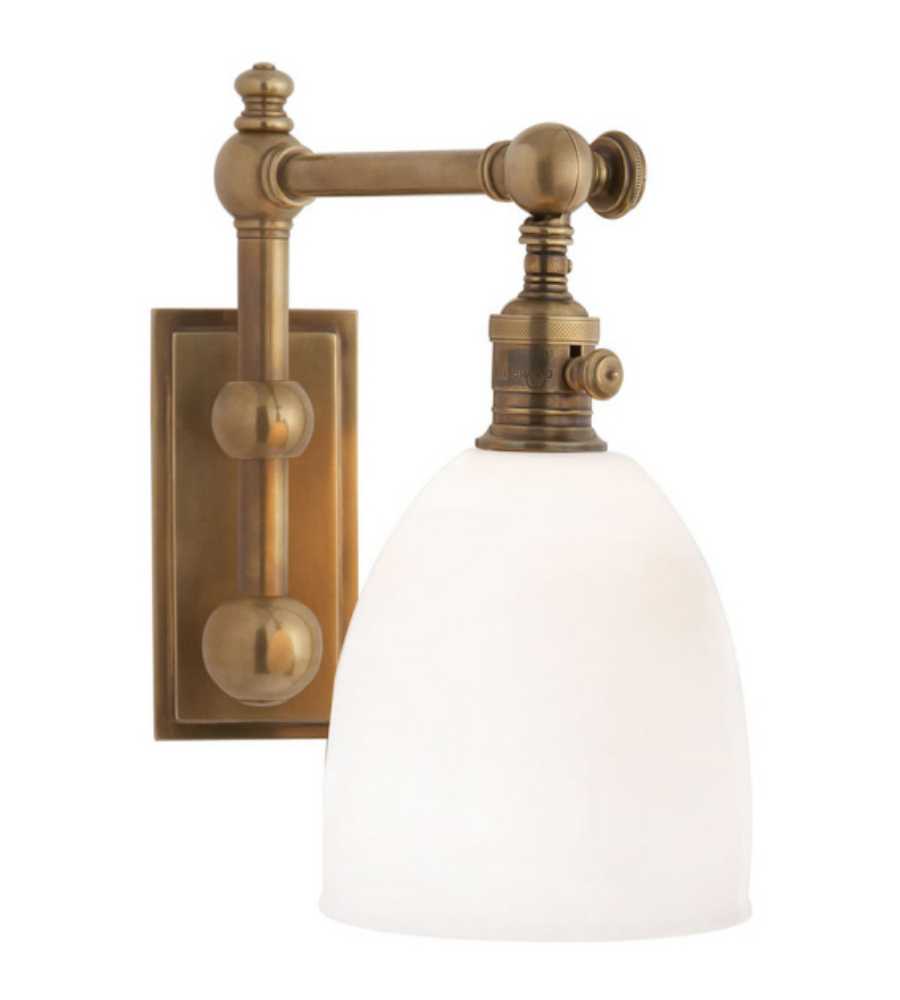 Visual Comfort CHD 2153AB-WG E. F. Chapman Traditional Pimlico Single Light in Antique-Burnished ...