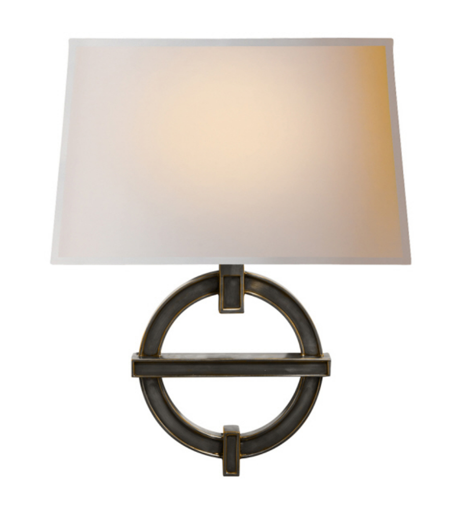 Visual Comfort CHD 2540BZ-NP E. F. Chapman Modern Symbolic Fragment Wall Sconce in Bronze with ...