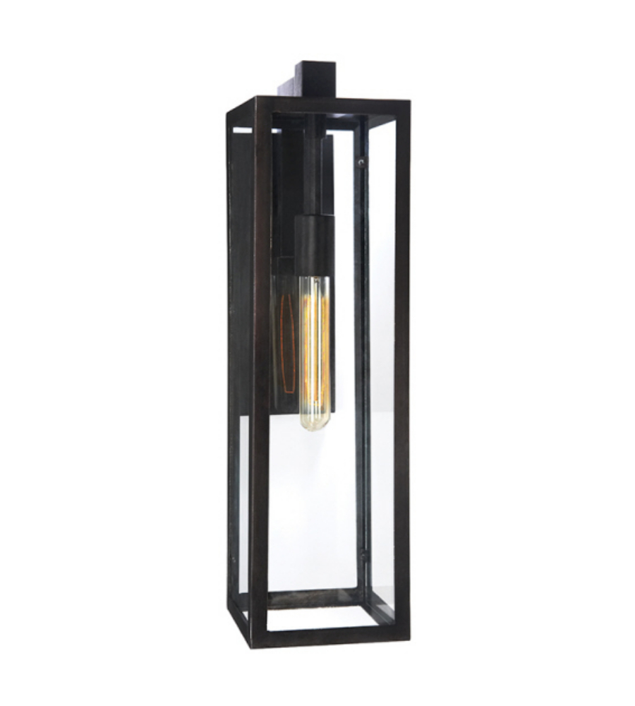 Visual Comfort CHD 2935AI-CG E. F. Chapman Modern Fresno Framed Long Sconce in Aged Iron with ...