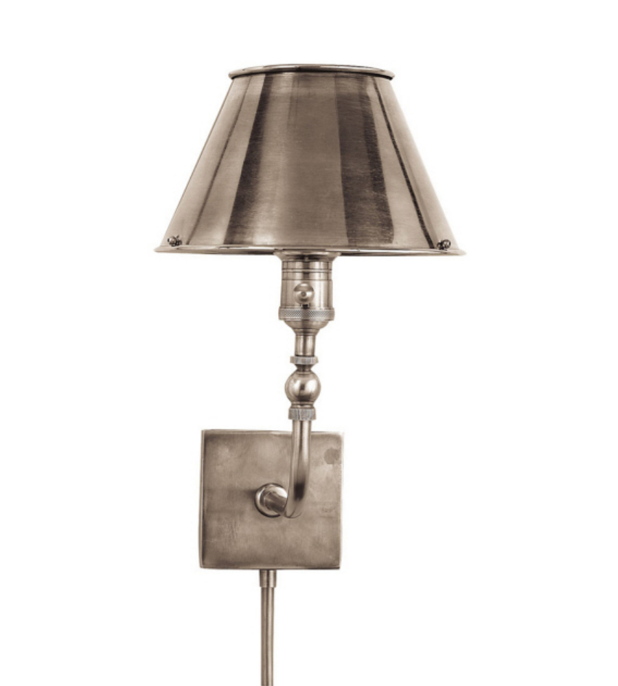 Visual Comfort S 2650AN-AN Studio VC Traditional Swivel Head Wall Lamp in Antique Nickel ...