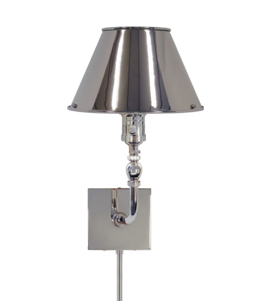Wall Mounted Swivel Lamps : Visual Comfort S 2650PN-PN Studio VC Traditional Swivel Head Wall Lamp in Polished Nickel ...
