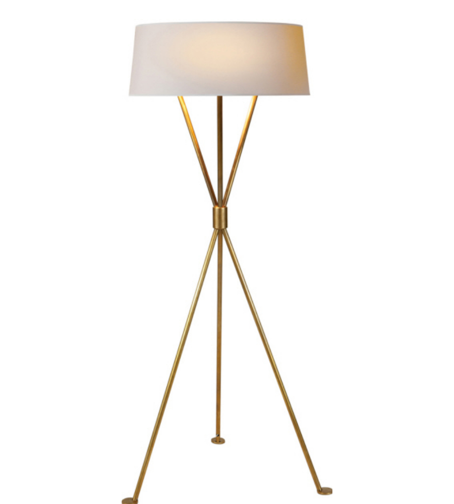 Visual comfort sk 1004hab np suzanne kasler modern for Tuscany floor lamp antique brass