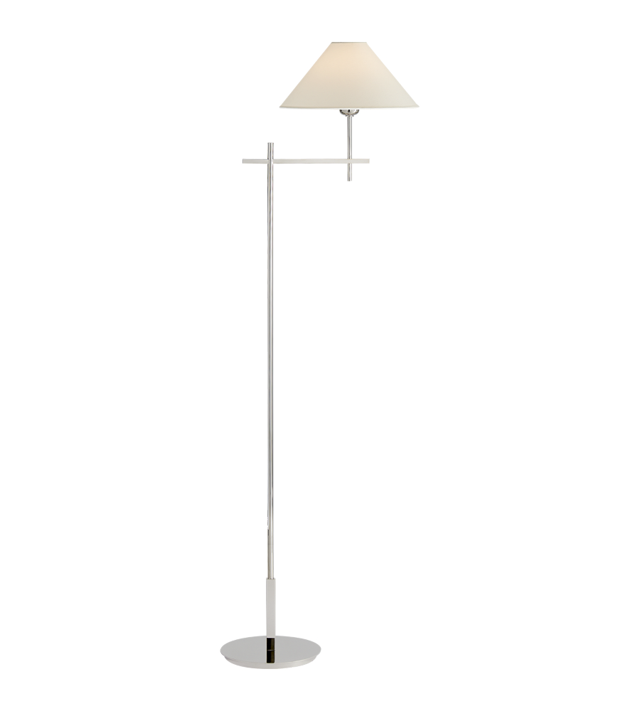 Visual comfort sp 1023pn np j randall powers modern hackney visual comfort sp 1023pn np j randall powers modern hackney bridge arm floor lamp in polished nickel with natural paper shade mozeypictures Choice Image
