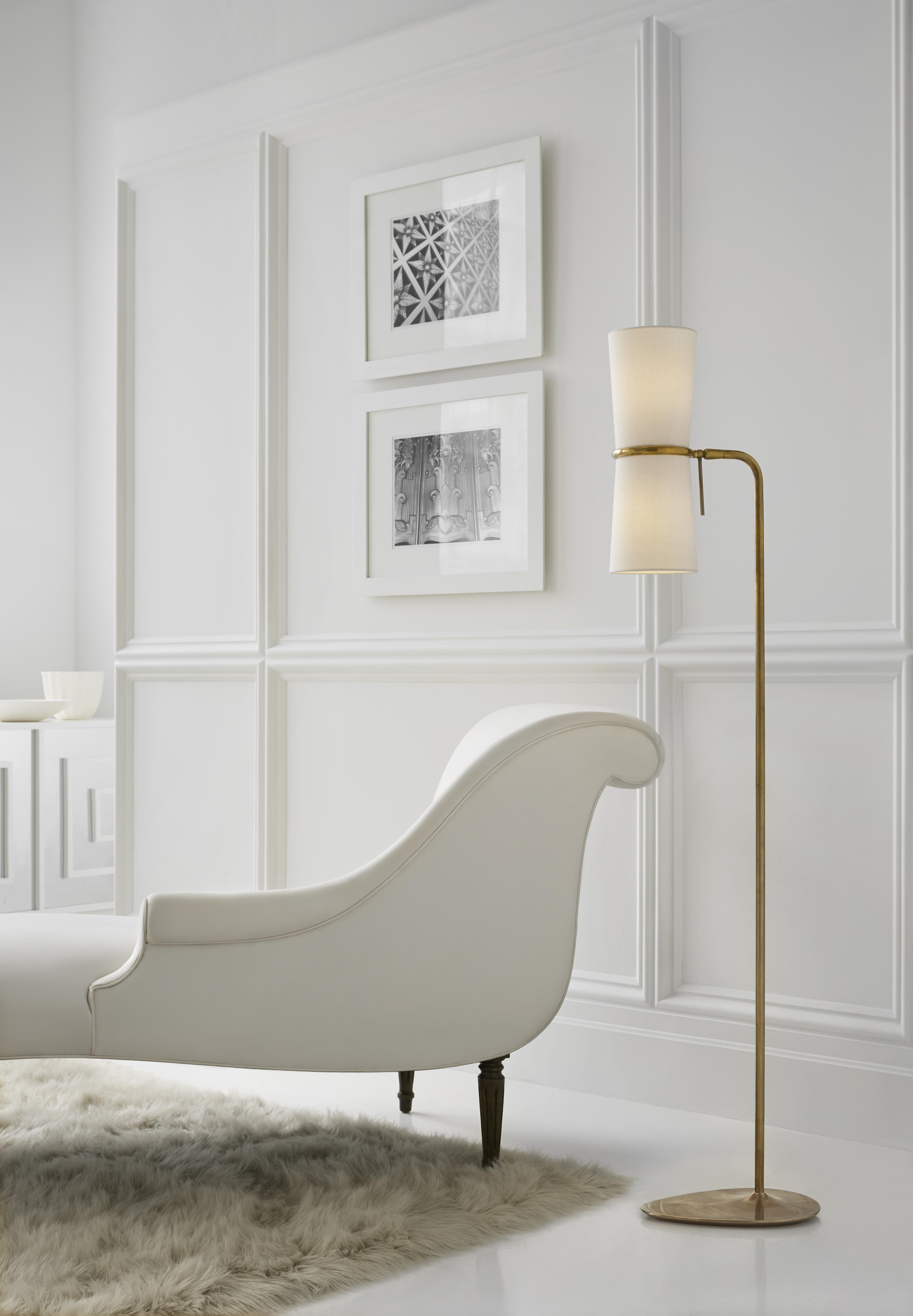 Visual Comfort ARN 1003HAB-L AERIN Modern Clarkson Floor Lamp in ...