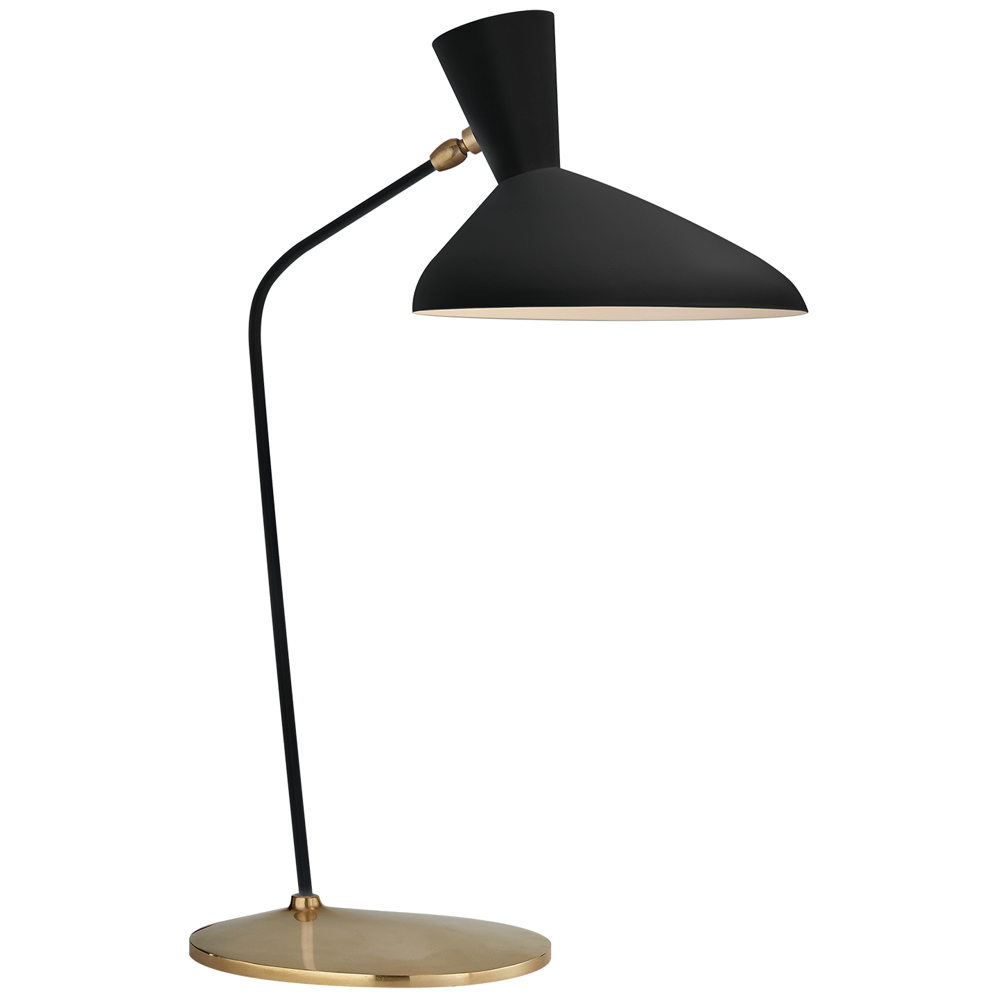 Shop for table lamps visual comfort at foundry lighting visual comfort arn 3712blk aerin modern austen large offset table lamp in black geotapseo Gallery