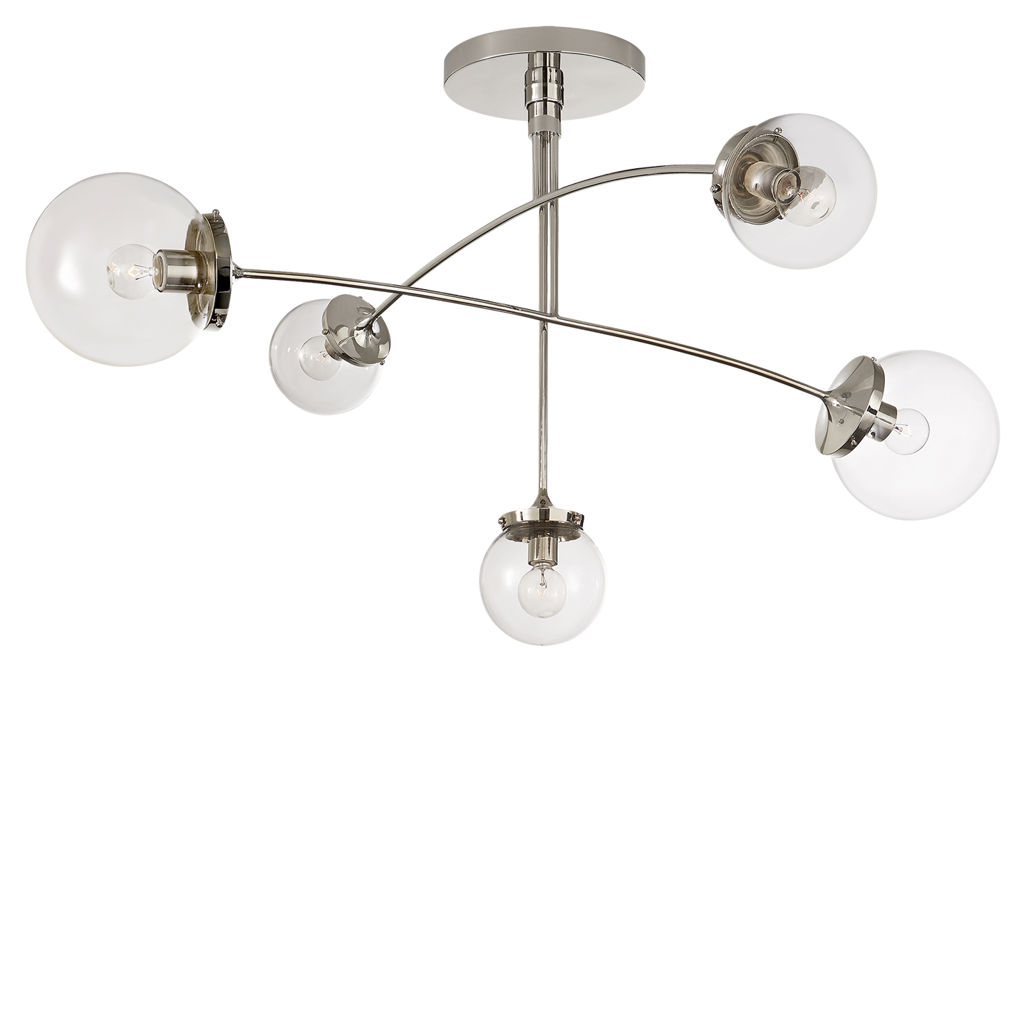 chandelier chan nickel lighting by gambit tech satin