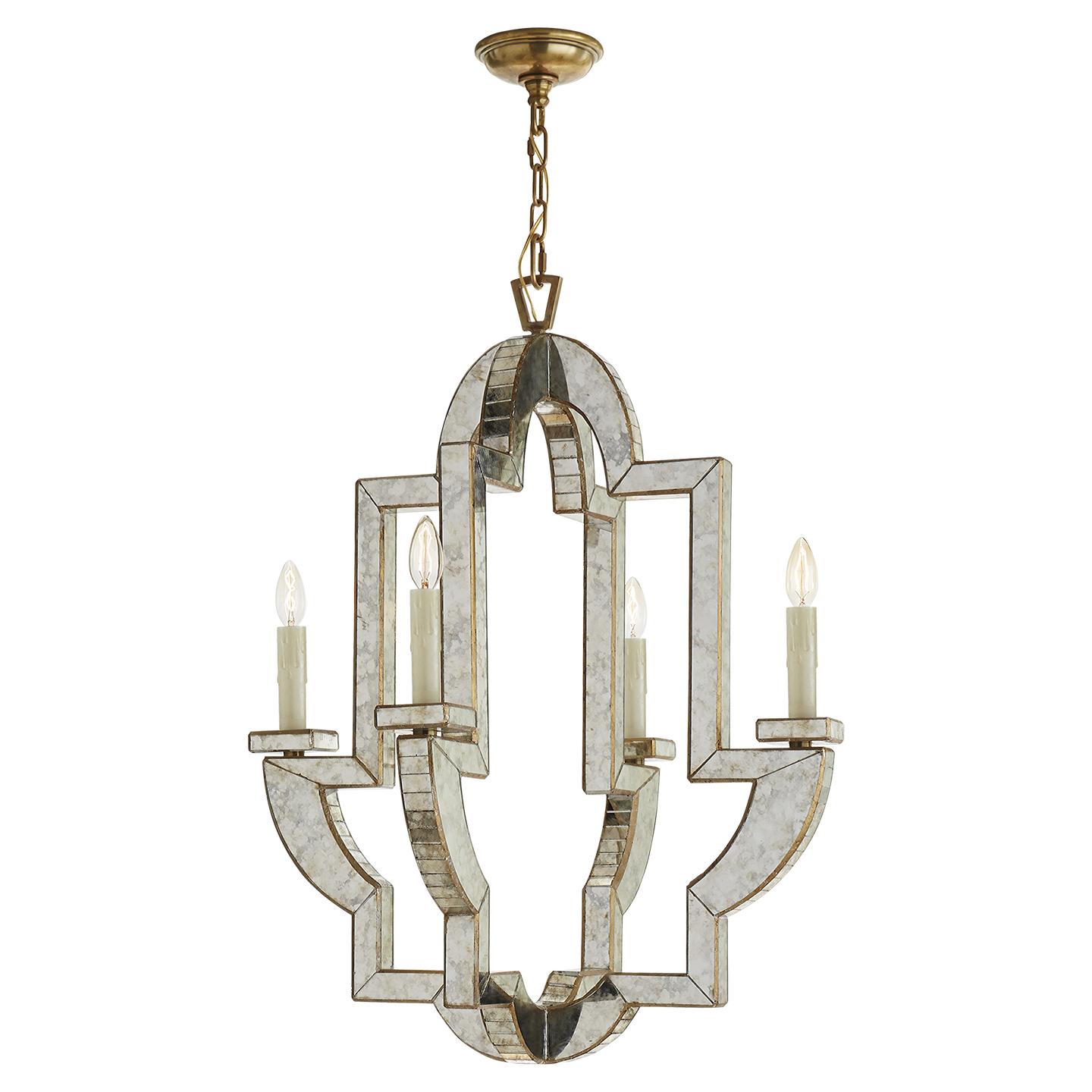 Shop for Mercury Glass Chandelier at Foundry Lighting