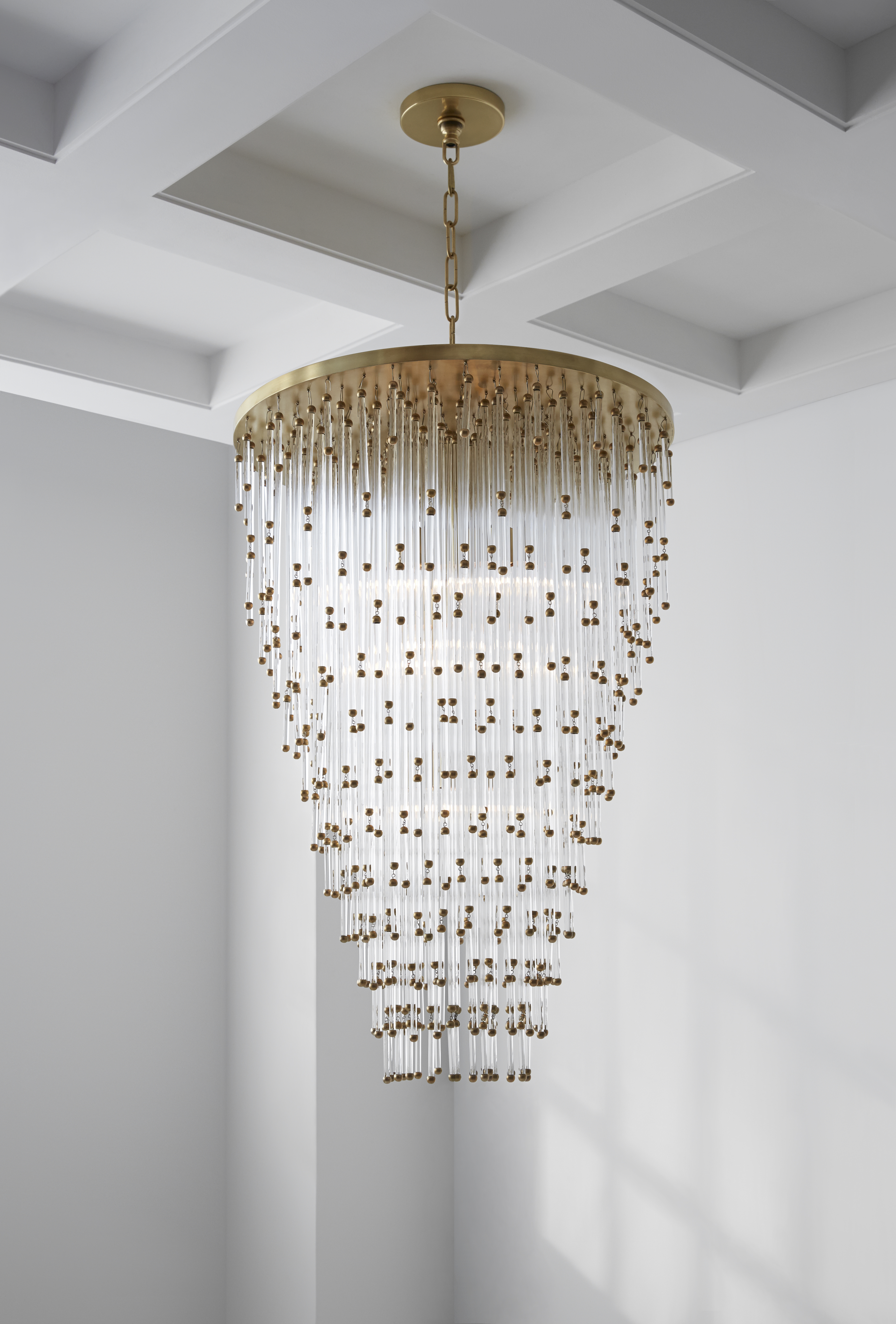 b prd clear glass effect at light chandelier diy q chrome ceiling departments bubble lamp bq cluster