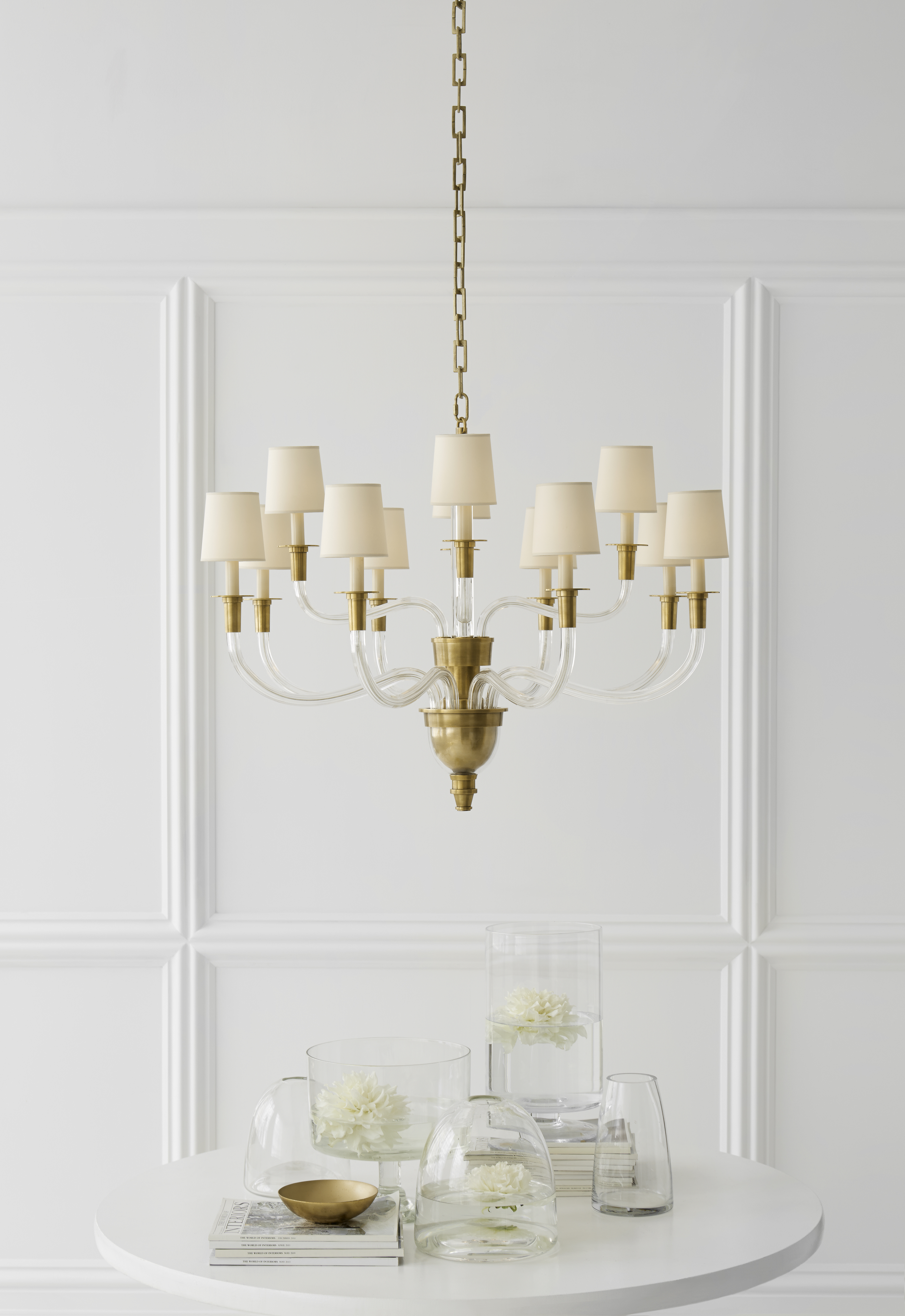 Shop for brass chandeliers comfort thomas visual at foundry lighting visual comfort tob 5033hab np thomas obrien modern vivian large two tier arubaitofo Gallery