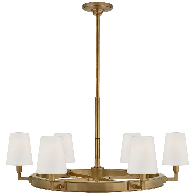 Shop for brass chandeliers comfort thomas visual at foundry lighting visual comfort tob 5281hab l thomas obrien modern watson medium ring chandelier in arubaitofo Gallery