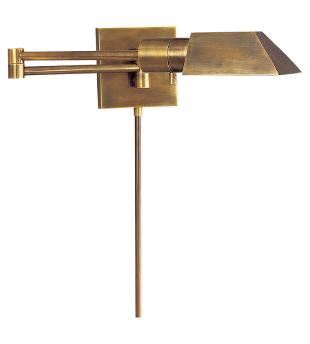 Visual Comfort 82034 HAB Studio VC Casual Studio Swing Arm Wall Light in Hand-Rubbed Antique Brass