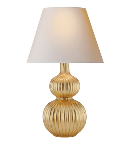 Visual comfort ah 3040g np alexa hampton traditional lucille table lamp in gilded with natural