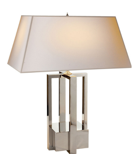 Visual comfort ah 3044pn np alexa hampton modern ingrid table lamp in polished nickel with
