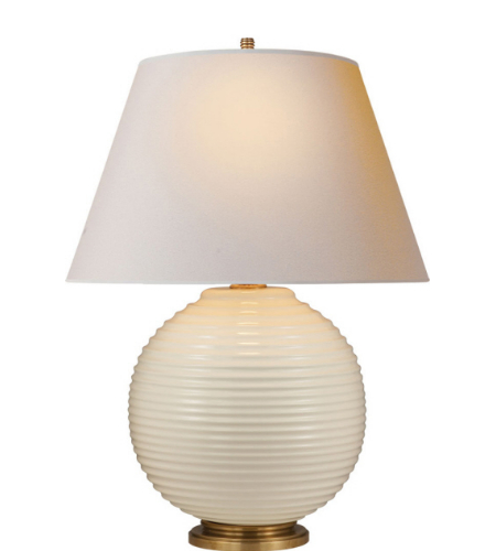 Visual Comfort AH 3105I NP Alexa Hampton Casual Hugo Table Lamp In Ivory  Porcelain With