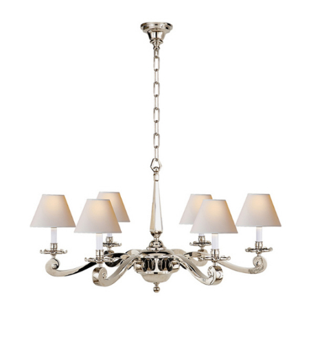 Visual Comfort AH 5010PN-NP Alexa Hampton Traditional Myrna Chandelier in Polished Nickel