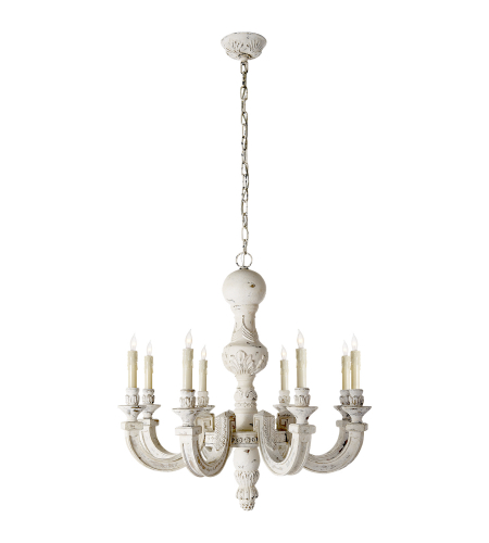 Visual Comfort AH 5025BW Alexa Hampton Traditional Dexter Small Chandelier in Belgian White