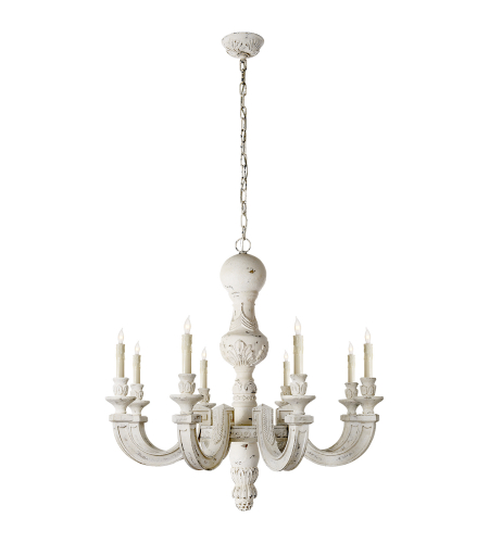 Visual Comfort AH 5026BW Alexa Hampton Traditional Dexter Large Chandelier in Belgian White