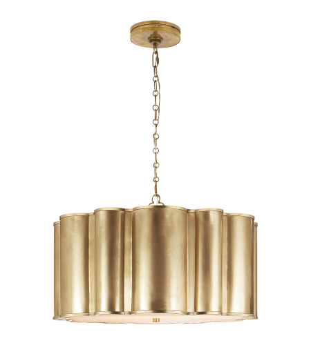 Visual Comfort AH 5215NB Alexa Hampton Modern Markos Hanging Shade in Natural Brass