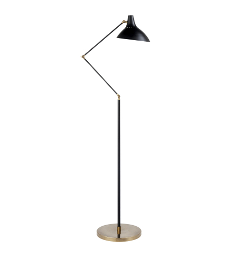 Visual Comfort ARN 1006BLK AERIN Modern Charlton Floor Lamp in Black and Hand-Rubbed Antique Brass