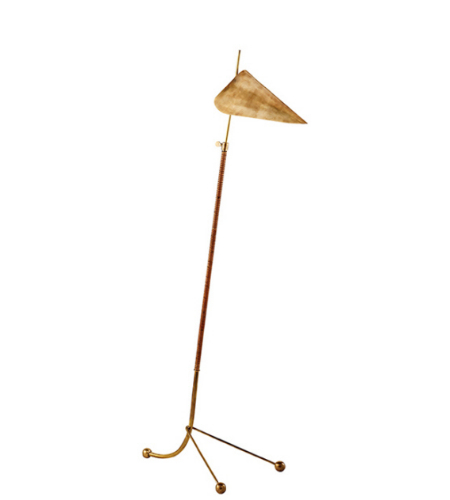 Visual Comfort ARN 1014HAB-HAB AERIN Modern Moresby Floor Lamp in Hand-Rubbed Antique Brass