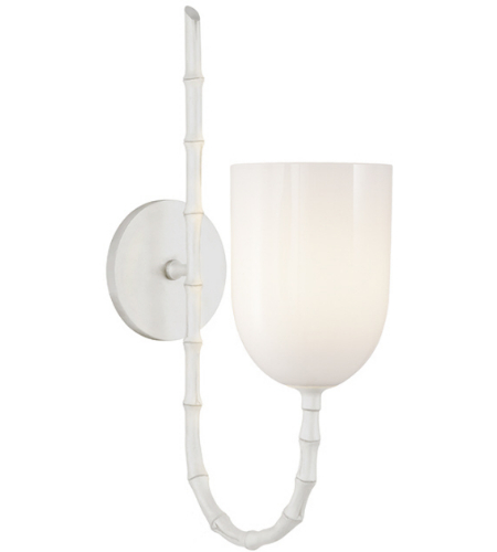 Visual Comfort ARN 2000PW-WG AERIN Casual Edgemere Wall Light in Plaster White