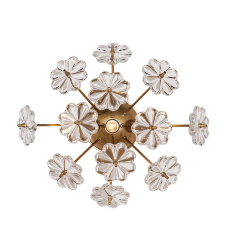 Visual Comfort ARN 2007HAB-CG AERIN Modern Lynn Wall Light in Hand-Rubbed Antique Brass with Clear Glass
