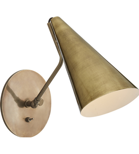 Visual Comfort ARN 2024HAB-HAB AERIN Modern Clemente Wall Light in Hand-Rubbed Antique Brass
