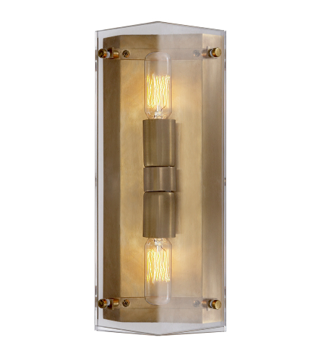 Visual Comfort ARN 2043CG AERIN Modern Clayton Wall Sconce in Crystal
