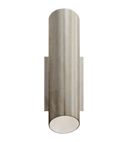 Visual Comfort ARN 2045BSL AERIN Modern Tourain Wall Sconce in Burnished Silver Leaf with Plaster White Interior