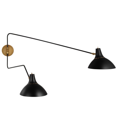 Visual Comfort ARN 2072BLK AERIN Modern Charlton Large Double Wall Light in Black