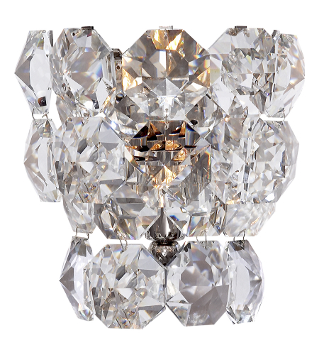 Visual Comfort ARN 2148PN-CG AERIN Modern Eva Wall Sconce in Polished Nickel with Crystal