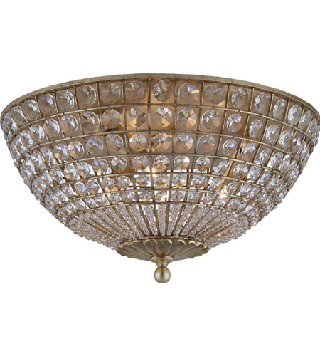 Visual Comfort ARN 4004G-CG AERIN Traditional Renwick Flush Mount in Gild with Crystal