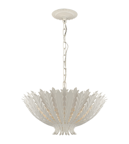 Visual Comfort ARN 5001PW AERIN Casual Hampton Chandelier in Plaster White