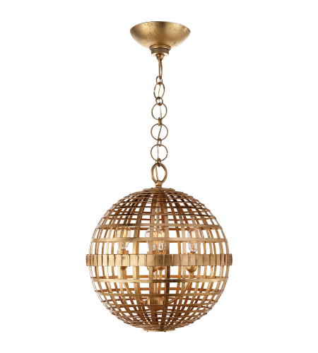 Visual Comfort ARN 5003G AERIN Modern Mill Small Globe Lantern in Gild