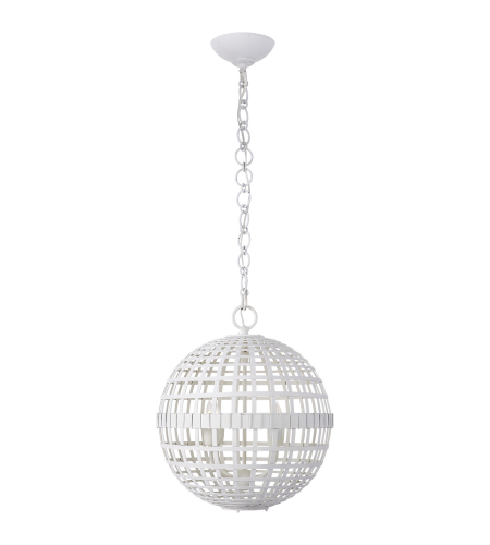 Visual Comfort ARN 5003PW AERIN Modern Mill Small Globe Lantern in Plaster White